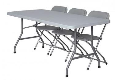 klappbord og stoler